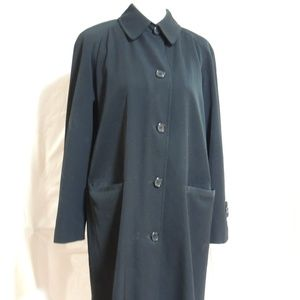 Talbots Beautiful Black Lined Trench Coat Size 6